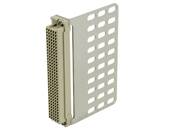 We also offer custom designs of strain-relief plates, which are a less expensive alternative to a full connector backshell.